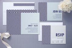graphic wedding invites