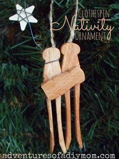 DIY Clothespin Nativity Ornament