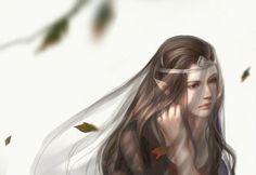 Even her mourning was a thing of immense beauty Hobbit Art, The Hobbit, Elven Woman, Arwen Undomiel, Elven Princess, Under The Shadow, Jackson, Character Sketches, Jrr Tolkien
