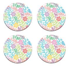 A Pack of 4 floral rainbow designs Pattern Weights inspired by TV Sewing Bee #ricemetalscreationscouk
