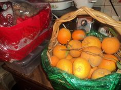 Naranjas recien cortadas del Humilde Huerto de mi casa