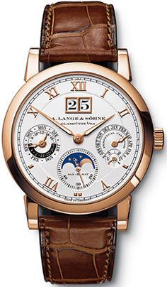 310.032 A. Lange & Sohne Langematik Perpetual Mens Watch- rose gold and transparent back! $61K