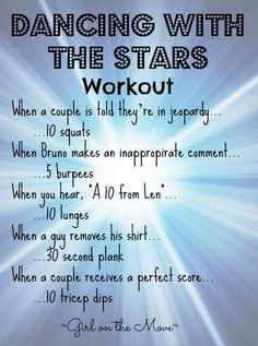 I love creative workouts that capitalize on tv time! ---> Dancing with the Stars Workout