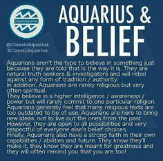 Aquarius and belief Astrology Aquarius, Aquarius Traits, Aquarius Love, Aquarius Quotes, Aquarius Woman, Age Of Aquarius, Zodiac Signs Aquarius, Zodiac Star Signs, My Zodiac Sign
