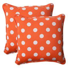 orange polka dot