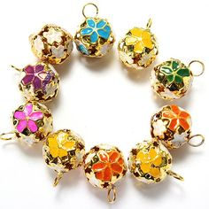 Mixed Color Metal Flower Jingle Bell Christmas Tinkle Bell Craft by store Metal Flowers, Christmas Bells, Jingle Bells, Jewelry Findings, Color Mixing, Stud Earrings, Crafts, Stuff To Buy, Shopping