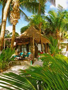 Our Beach Hut at Mestizo Boutique Resort, Tulum, Mexico