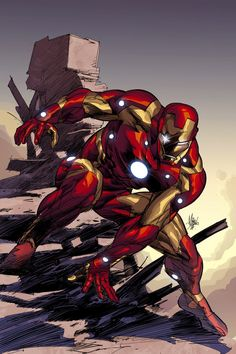 Architects Ironman Cover Art. Lines by Mike Deodato Jr., colors by Rain Beredo.