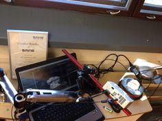 DAVID SLS-2 3D-skanneri automaattisella pyörityspöydällä valmiina Alihankinta 2015 messuille. #alihankinta #alihankinta2015 #alihankintamessut #tampere #david #sls2 #3dskanneri