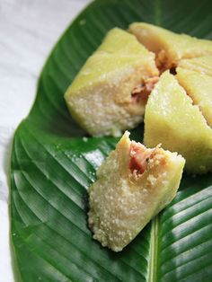 Banh Chung (Vietnamese steamed sticky rice with mung beans and pork belly - Traditional Lunar New Year food)