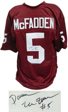 e605daf01 Darren McFadden signed maroon custom college football jersey. Item comes  with a Schwartz Sports Memorabilia