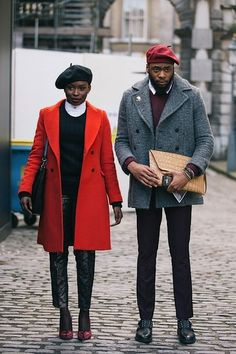 the coats. the berets. flyness