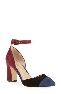 Free shipping and returns on BCBGMAXAZRIA 'Billee' Colorblock Pump (Women) at Nordstrom.com. A floating ankle strap balances the chunky block heel of a modern color-blocked pump in lush suede.