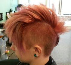 Mohawk haircut Asthecurlturns.com Facebook.com/victoryroll  Doordye-sj.com
