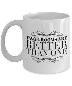 a411df085b9ad Gay Wedding Gift Funny Anniversary Coffee Mug Best Marriage Couples  Engagement Same Sex Man LGBT Lgbtq Wedding Mr and Mr 2019 Present Shower