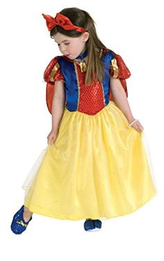 Rubies Officially Licensed Snow White Costume  Girls Size 34 *** Visit the image link more details-affiliate link.