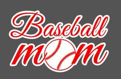 Baseball Mom/Softball mom vinyl car window decal, bumper sticker. $12.00, via Etsy.