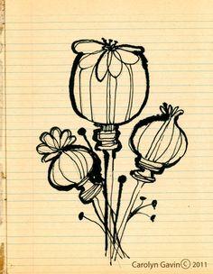 Pen and ink by Carolyn Gavin