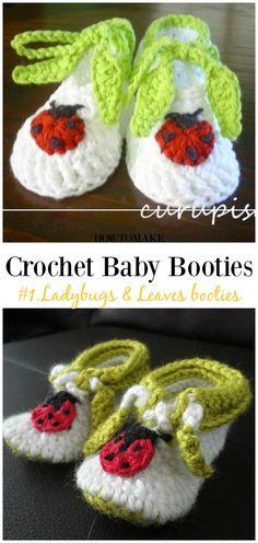 Crochet For Babies Crochet Ladybugs Crochet Baby Blanket Beginner, Crochet Baby Dress Pattern, Baby Girl Crochet, Crochet Baby Shoes, Crochet Patterns, Crochet Ladybug, Crochet Bebe, Crochet For Kids, Crochet Hats