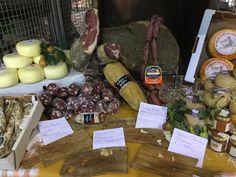 Local products at  Saturday market, Citta' della Pieve, Umbria, Italy