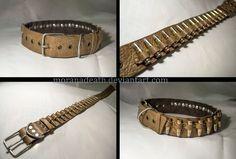 Dog collar and pistol ammunition 7.62x25 mm by MoranaDeath
