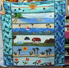 2015 Row by Row Experience Quilting Ideas, Quilting Projects, Quilt Patterns, Sewing Projects, Children's Quilts, Strip Quilts, Camping Quilts, Row By Row Experience, Beach Quilt