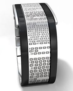 Tokyoflash concept design laughs in the face of easily telling the time. It's called the Binary Flow watch and it has an e-ink display, which in itself is pretty cool. The e-ink display is partially wrapped around your wrist, and so are the components of the time and date.