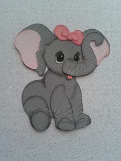 SCRAPBOOK PAPER PIECING BABY ELEPHANT PAPER PIECING BY MY TEAR BEARS KIRA