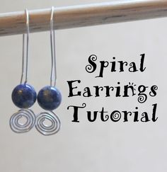 #tuttorial Make these simple Spiral Earrings by following this great tutorial by Emerging Creatively Tutorials...