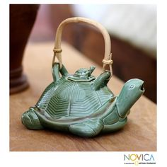 7.9-inch Ceramic 'Mother Sea Turtle' Teapot (Indonesia) | Overstock.com Shopping - Great Deals on Novica Tea & Coffee Sets