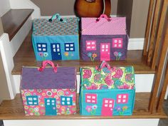 Fabric Doll House....my sis and I easter project :)