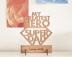 Fathers Day Card - My Greatest Hero Super Dad!