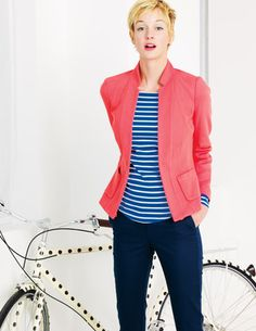 Love the spotted bike! @BodenClothing Elgin Jacket