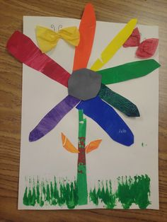 """Flower Color Wheels! Eric Carle's """"The Tiny Seed"""" also label the parts and can be done with grow a rainbow by lois ehlert"""