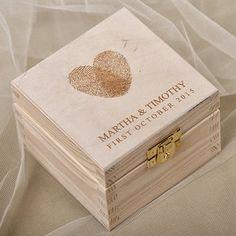 Recordatorio para boda Cajita en madera personalizada