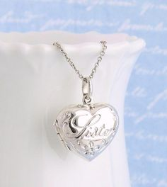 Engravable Heart With Ribbon Banner .925 Sterling Silver Charm Pendant USA MADE