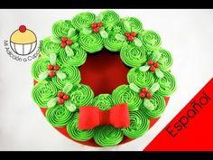 ¡TORTA NAVIDEÑA DE CUPCAKES! Torta Desarmable en forma de Corona - MiAdiccionaCupcakes - YouTube