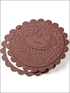 scalloped circle punch and embossed
