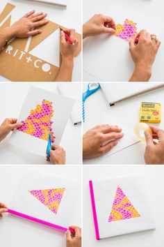 #TBT: Make Old School Book Covers With Colorful Tape! via Brit + Co.