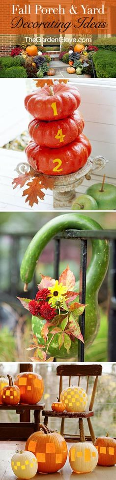 Fall Porch and Yard Decorating Ideas!