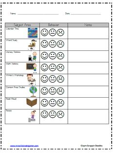 Mrs. Wills Kindergarten: Classroom Behavior.. would be great for a student that needs an individual plan