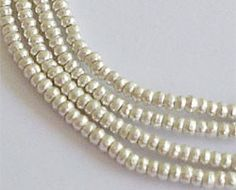 300 of Karen Hill Tribe Silver Seed Beads 1.5x1 mm 13 inches :kt0084m