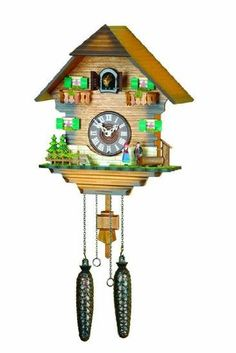 German Cuckoo Clock Quartz-movement Chalet-Style 12.00 inch - Authentic black forest cuckoo clock by Trenkle Uhren: Amazon.co.uk: Kitchen & ...