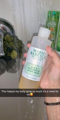 Body acne - Mario Badescu A H A Botanical Body Soap – Body acne Hair And Beauty, Beauty Skin, Face Beauty, Clear Skin Tips, Clear Skin Products, Body Care Products, Beauty Products, Clear Skin Routine, Healthy Skin Care