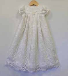 Evangelina Linen and Lace christening, blessing, baptism gown