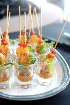 Individual Thai Chicken Satay for a party