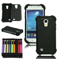 XYUN For Samsung Galaxy S4 S IV Mini i9190 i9192 New Shockproof Hybrid Heavy Duty Impact Rugged Case Combo Skin Cover (black)