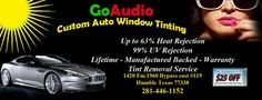 If you're looking for savings, high quality and personal service, you've come to the right Houston audio store. At GoAudio LLC (The Car Alarm/Audio Specialists) they've been doing Car Alarms, Navigation, DVD, Drop Down Screens, Custom Boxes, Amps, Tint and Car Audio in Humble, TX since 2000. They offer a lifetime warranty on all of our Labor. Located at 1420 Fm 1960 bypass Rd E, Humble, TX 77338. Call 281-446-1152 or visit http://goaudiousa.com/ for more information.