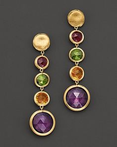 Marco Bicego Jaipur Yellow Gold And Multi-Stone Drop Earrings Jewelry & Accessories - Fine Jewelry - Earrings - Bloomingdale's Jewelry Gifts, Jewelery, Jewelry Accessories, Handmade Jewelry, Jewelry Design, Jewellery Bracelets, Silver Bracelets, Silver Rings, Luxury Jewelry