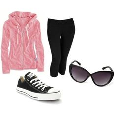 The perf outfit for a plane ride! #fashion #leggings #converse #sunglasses